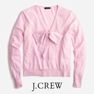 J.Crew Merino wool Bow Sweater NWT